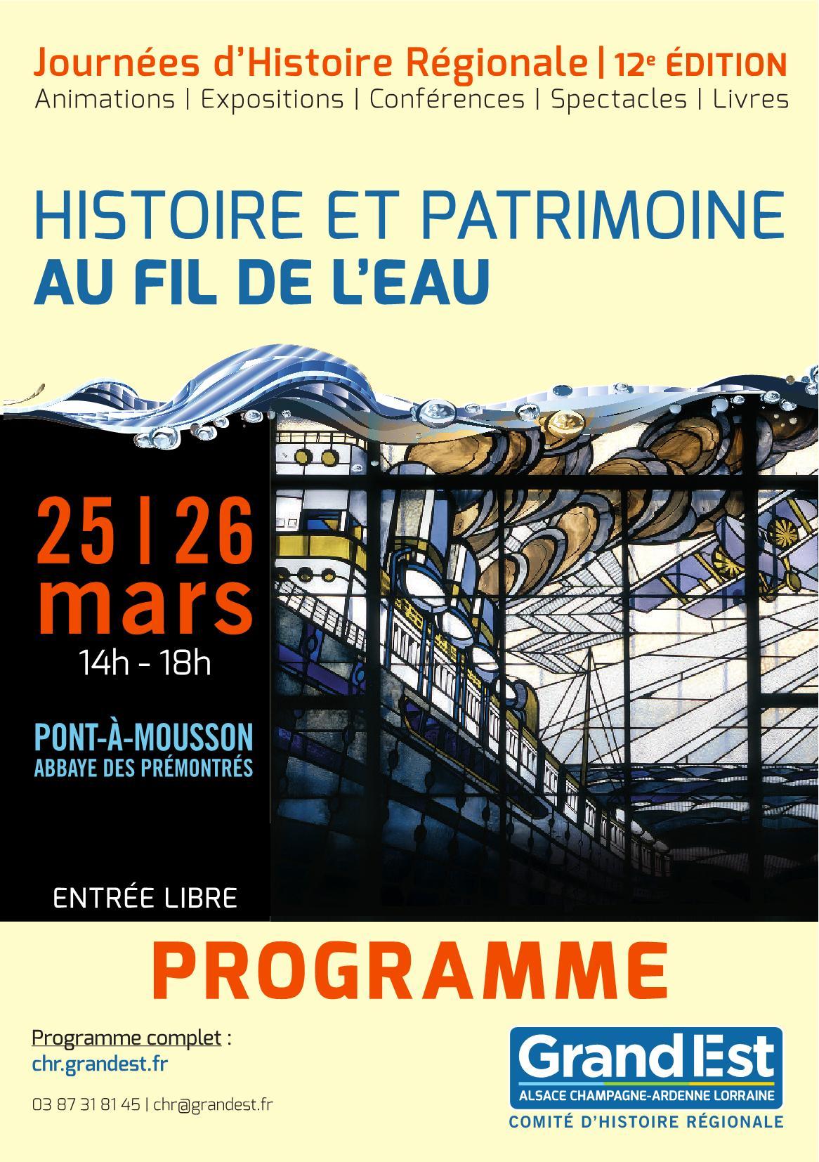 Programme Journées d'Histoire Régionale 2017